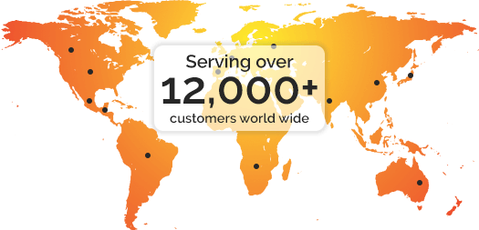 Serving over 12,000 customers worldwide
