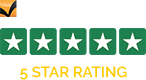 5 Star Rating by Trustpilot
